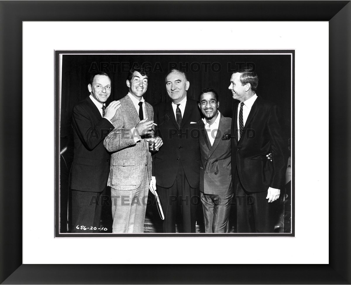 The Rat Pack at the Fox Theater - Arteaga Photos - 24''x28'' Framed Double Matted Print by Arteaga Photos