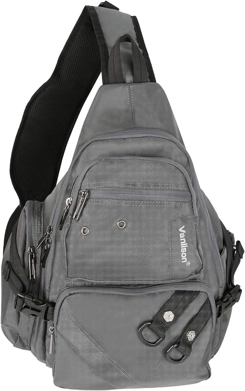 Vanlison Crossbody Sling Bag Backpack for Men & Women