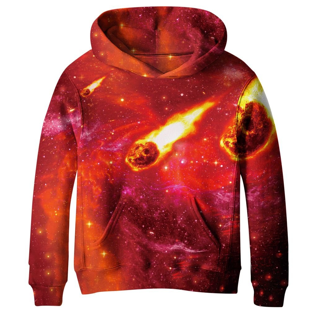 SAYM Big Girls Galaxy Fleece Pockets Sweatshirts Jacket Pullover Hoodies CA120