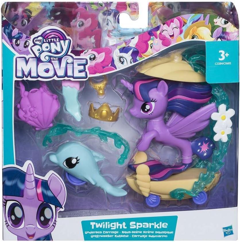 My Little Pony: La película–Bajo el Agua de carruaje–Juego con mar Pony Twilight Sparkle, delfín Figura + 5Accessories