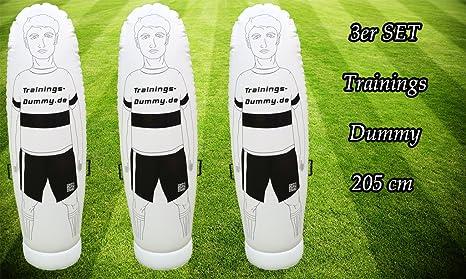Fútbol Dummy Juego de 3 Dummy 205 cm para fútbol de ...