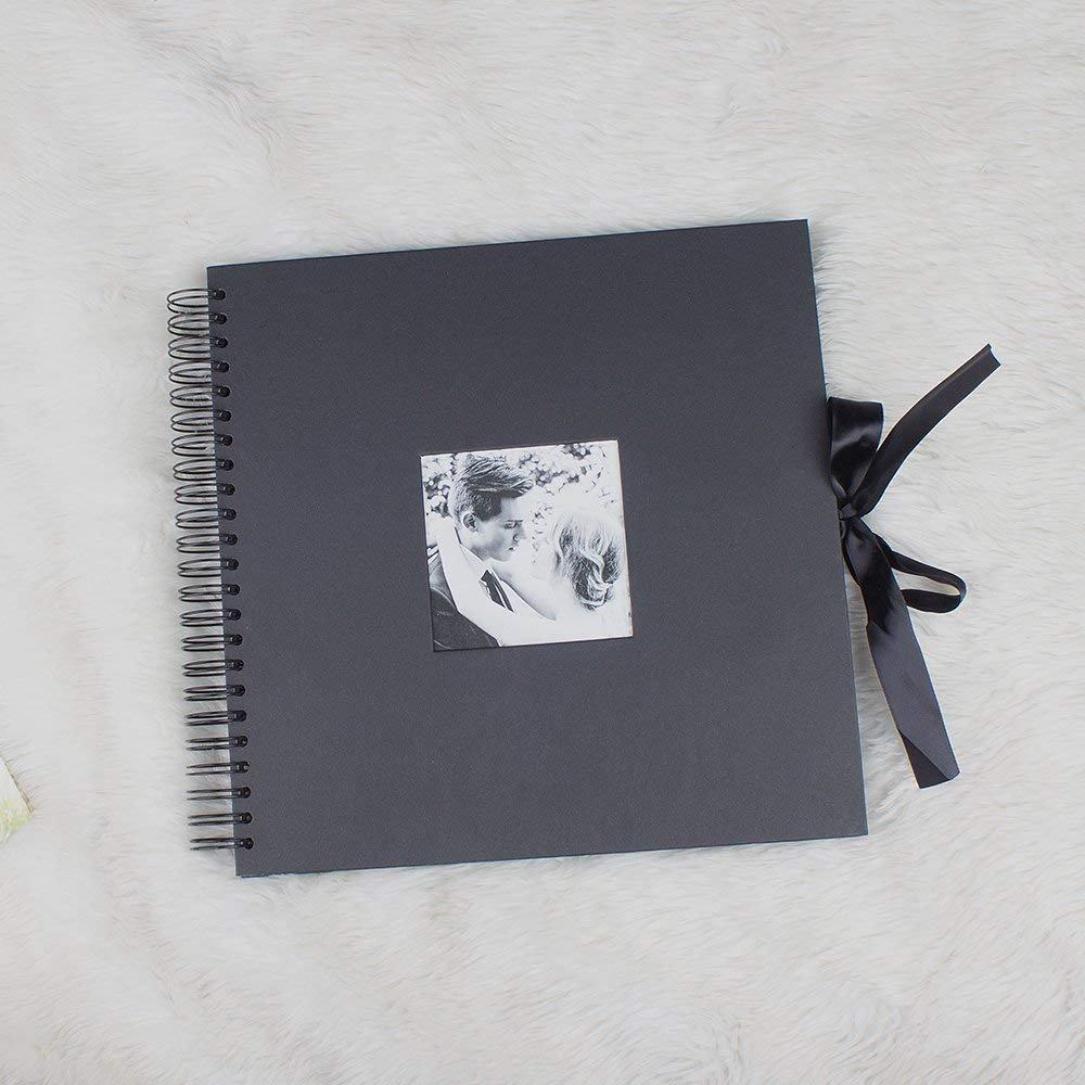 RECUTMS Scrapbook Photo Album 80 Pagine a Mano DIY Album Fotografico 30,5 x 30,5 cm Festa della Mamma Anniversario Regalo di San Valentino 12 Pollici