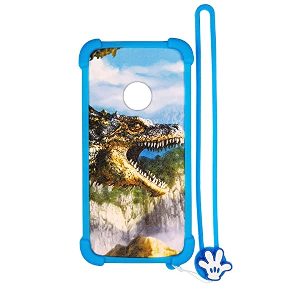 Case for ZTE Quest Plus z3001s Sapphire 4g Case Silicone Border + PC Hard  backplane Stand Cover Luminous Effect L