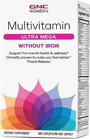 GNC Women's Multivitamin Ultra Mega Without Iron
