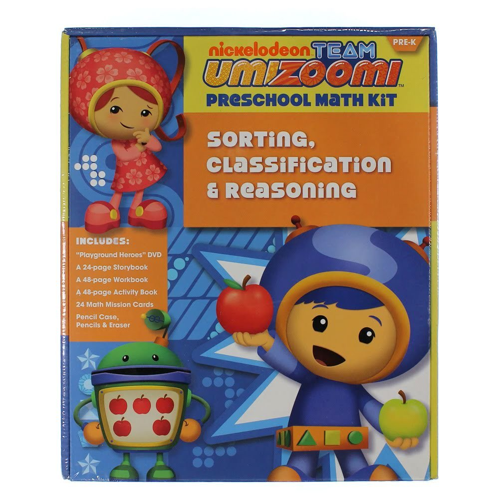 Workbooks prek workbooks : Team Umizoomi: Sorting, Classification & Reasoning Pre-K Math Kit ...