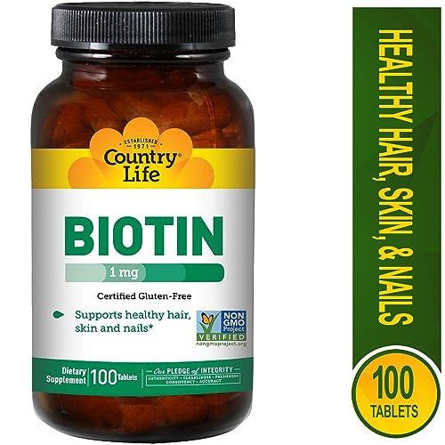 Country Life Biotin 1000 mcg -100 Tablets