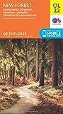 ORDNANCE SURVEY Explorer OL22 New Forest Map With Digital Version