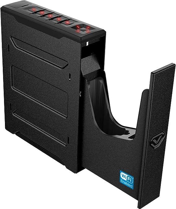 Vaultek Slider Series Rugged Smart Handgun Safe Quick Auto-Open Sliding Door Pistol Safe with Rechargeable Li-ion Battery