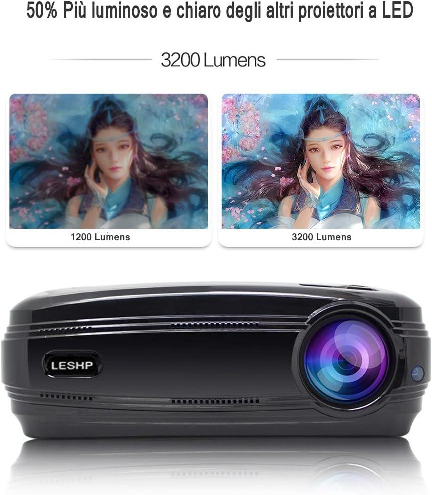 Proyector 1080P HD 3200lm LCD – leshp Cinema Familiar Distancia 1 ...