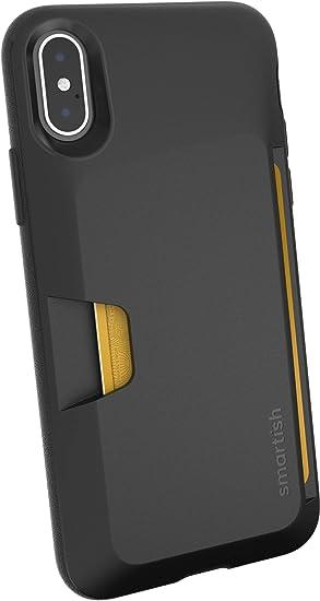 Smartish Étui portefeuille pour iPhone X/XS – Portefeuille Slayer Vol. 1 [fin protection] porte-cartes pour Apple iPhone 10S/10 (soie) – Noir Tie ...