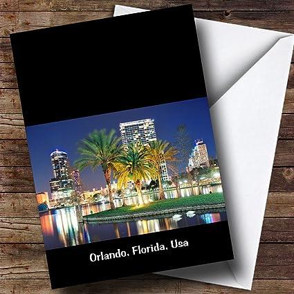 Orlando, Florida, USA personalizado cumpleaños tarjeta de ...