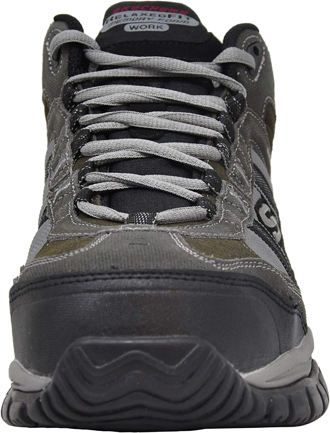 Skechers For Work 70727 Soft Stride Canopy Slip Resistant Work Boot Charcoal
