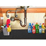 """Under The Sink Mat, Kitchen Cabinet Liner Mat, Non-Adhesive Absorbent Waterproof Shelf Liner for Kitchen Cabinets(24""""X36"""")"""