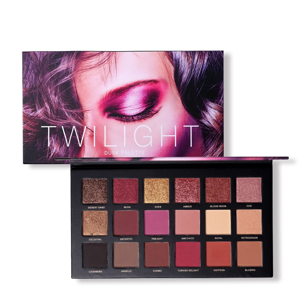 18 Colors Eye Shadow Makeup Palette WicLian Matte Shimmer Pigmented Twilight And Dusk Eyeshadow Powder (A1)