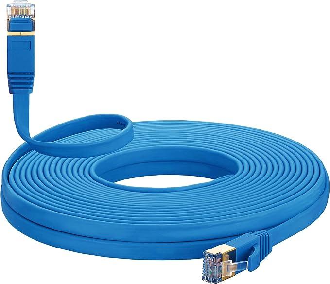 MORELECS Cat 7 Internet Cable 10 ft Ethernet Cable RJ45 Network Cable Cat7 LAN Cable for PC Laptop Modem Router Cable Ethernet Cat 7 Ethernet Cable