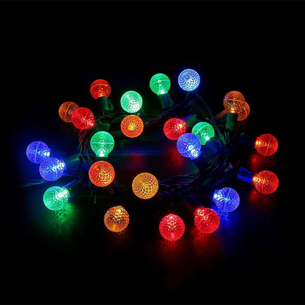 Multicolor Led Globe Ball Light Strings with G30 Bulbs,13Ft 25 Outdoor Decorative Light Set,Commercial Grade Christmas Holiday Garden Patio Wedding Bar Lights--MAXINDA