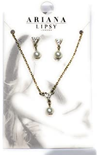 194b2a57a44 Ariana Grande Lipsy London Pearl Style Pendant Necklace And Earring Set