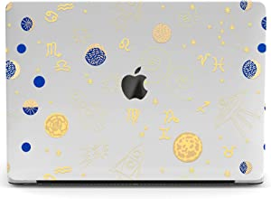 Wonder Wild Mac Retina Cover Case Compatible with MacBook Pro 15 inch 12 11 Clear Hard Air 13 Apple 2019 Protective Laptop 2018 2017 2020 Plastic Print Cute Zodiac Signs Moon Space Galaxy Rocket