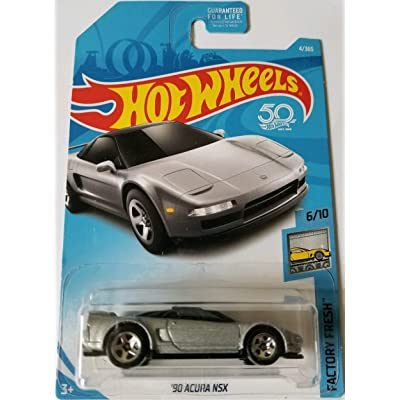 Hot Wheels 2020 50th Anniversary Factory Fresh '90 Acura NSX 4/365, Silver: Toys & Games