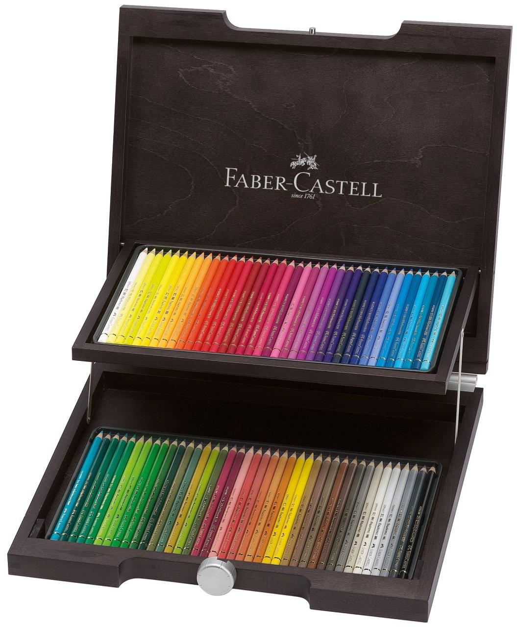 Polychromos 72 Pencil Wood Box Set by Faber-Castell