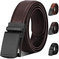 NUBILY Cinturón Cuero Hombre, Cinturones Piel con Hebilla Automática, Sencillo y Clásico Perfecto Regalo