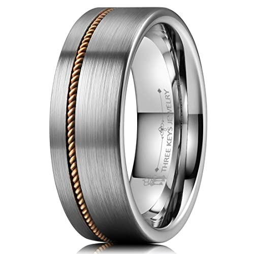 Jewelry & Watches Precise Stainless Steel Striped 8mm Black Plated Brushed/ Wedding Ring Band Size 12.50 Bridal & Wedding Party Jewelry