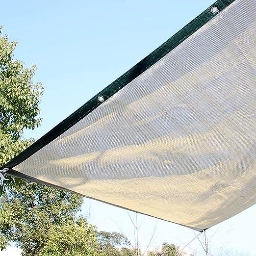 GuoWei- Velas de sombra Solar Obstruido Malla Neto Transpirable con Ojales para Cubrir Jardin Plantas Pérgola Al Aire Libre (Color : Beige, Size : 4x5m): Amazon.es: Jardín