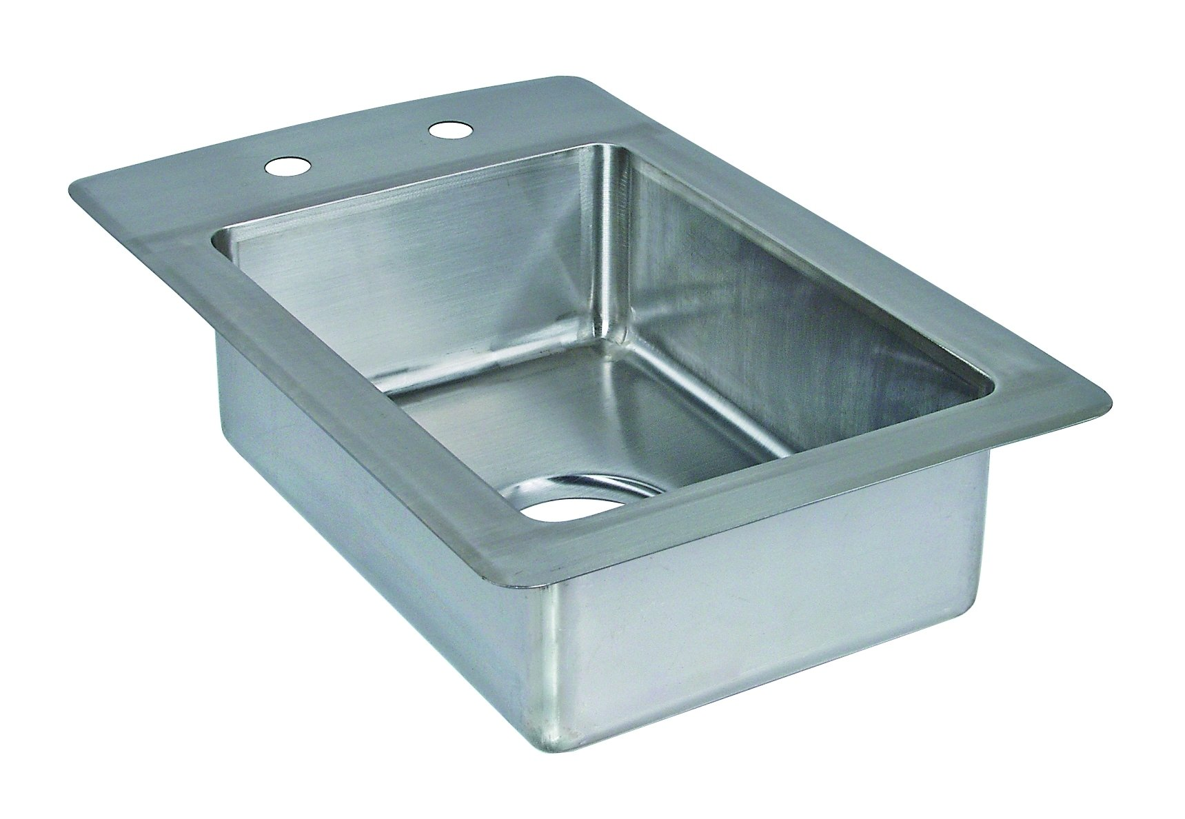 Tarrison DI1410-10 Stainless Steel Heavy Duty Drop In Coved Corner Sink, 13'' Length x 10'' Height x 20'' Depth