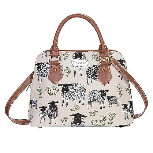 d5dbab09d1ba Signare Tapestry Women Top Handle Handbag Shoulder Bag Cross Body Bag Lamb  Sheep and Daisies Flower (CONV-SPLM)  Amazon.co.uk  Shoes   Bags