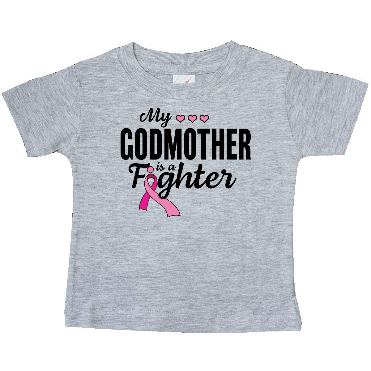 inktastic Breast Cancer Awareness My Godmother is a Fighter Baby T-Shirt
