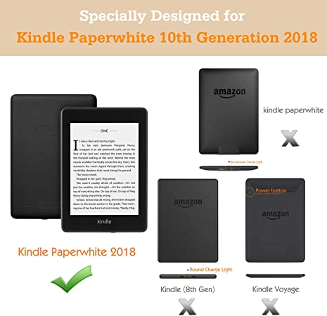 Denim Gray Dadanism Case Fits Kindle Paperwhite 10th Generation, 2018 Releases Slim Lightweight Casing Protection Thin Shell Cover with Auto Wake//Sleep E-Reader Protector