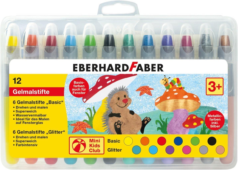 Eberhard Faber 529112–Mini Kids Club, 12rotuladores para Gel en Estuche de plástico