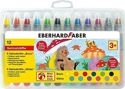 EBERHARD FABER Gelmalstifte 6 Farben im Kartonetui