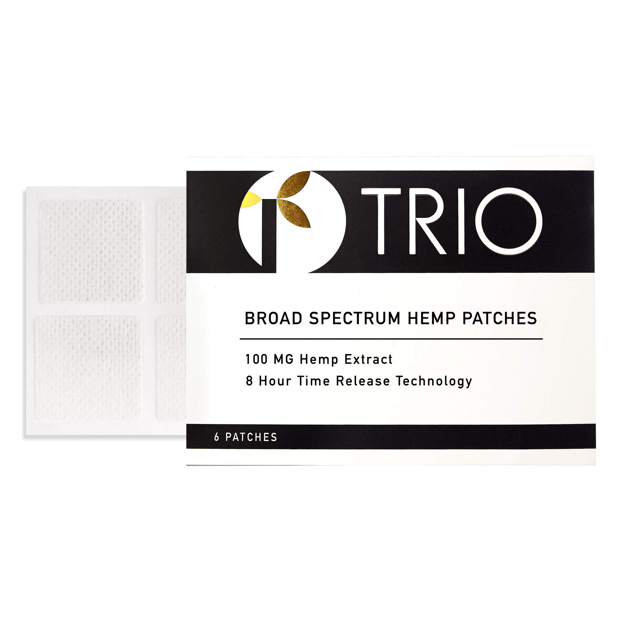 Hemp Oil Topical Pain Patch - Zero THC - Ideal for Pain Relief, Muscle Pain, Stress, Anxiety, Better Sleep - 6 Patches x 100mg Each (600mg Total)