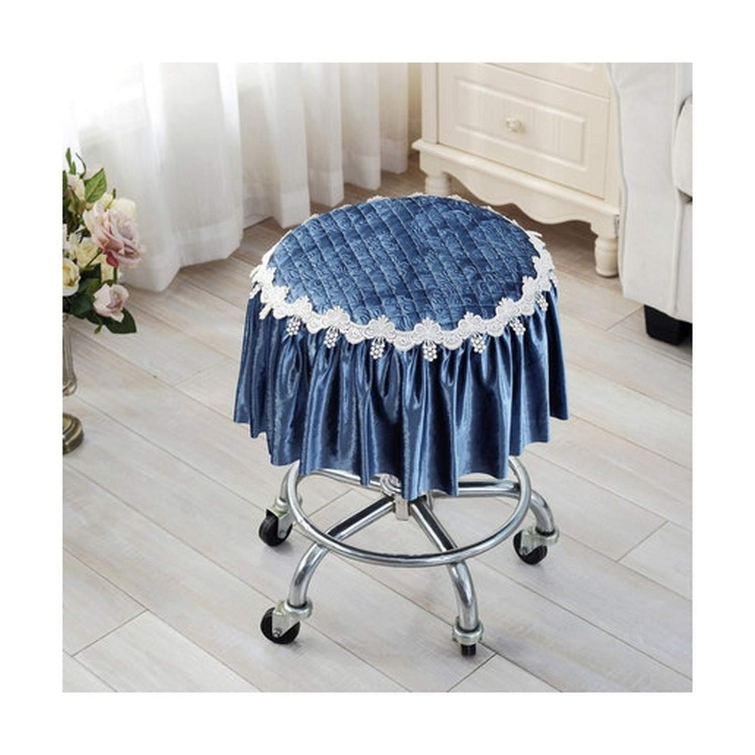 Michael Palmer Thickening Bar Stool Cover Round Chair Seat Slipcovers Pad, 30-45CM Soft Chair Covers Protectors by Michael Palmer