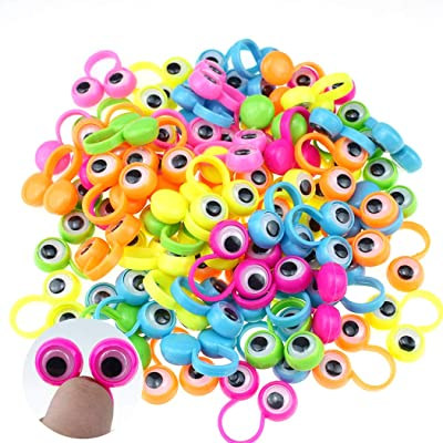 100PCS Eye Finger Puppet Funny Eyeball Ring Toy Party Favor Toy Kids Toy: Everything Else