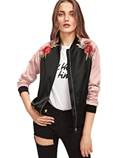 6070a5a0d9a Amazon.com  Simplee Women s Casual Floral Embroidery Reversible ...