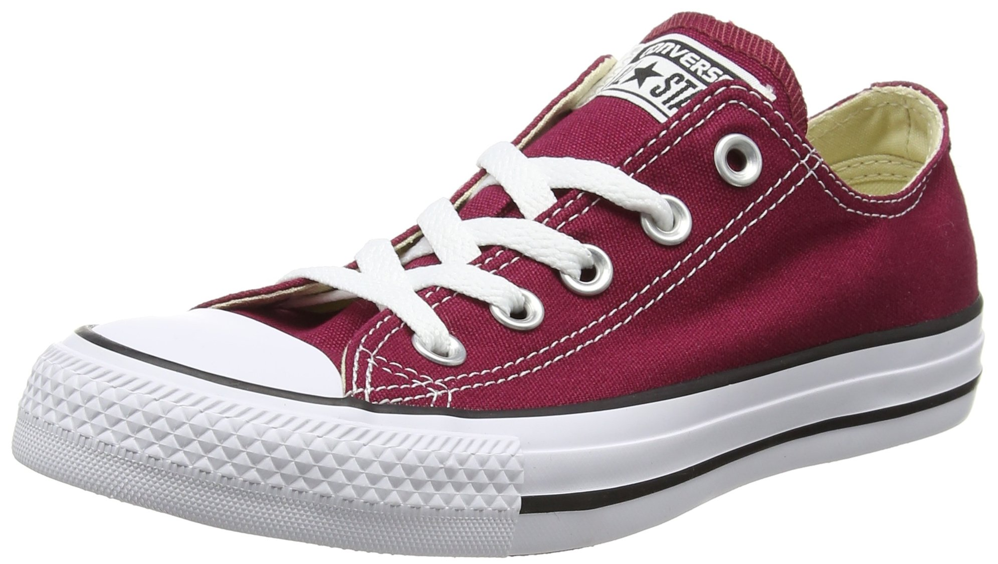 Converse Chuck Taylor Allstar Ox Unisex Trainers Maroon - 6.5 UK
