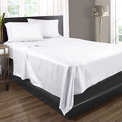Etonnant Bed Sheets, 100% Egyptian Cotton, 400 Thread Count   King   White