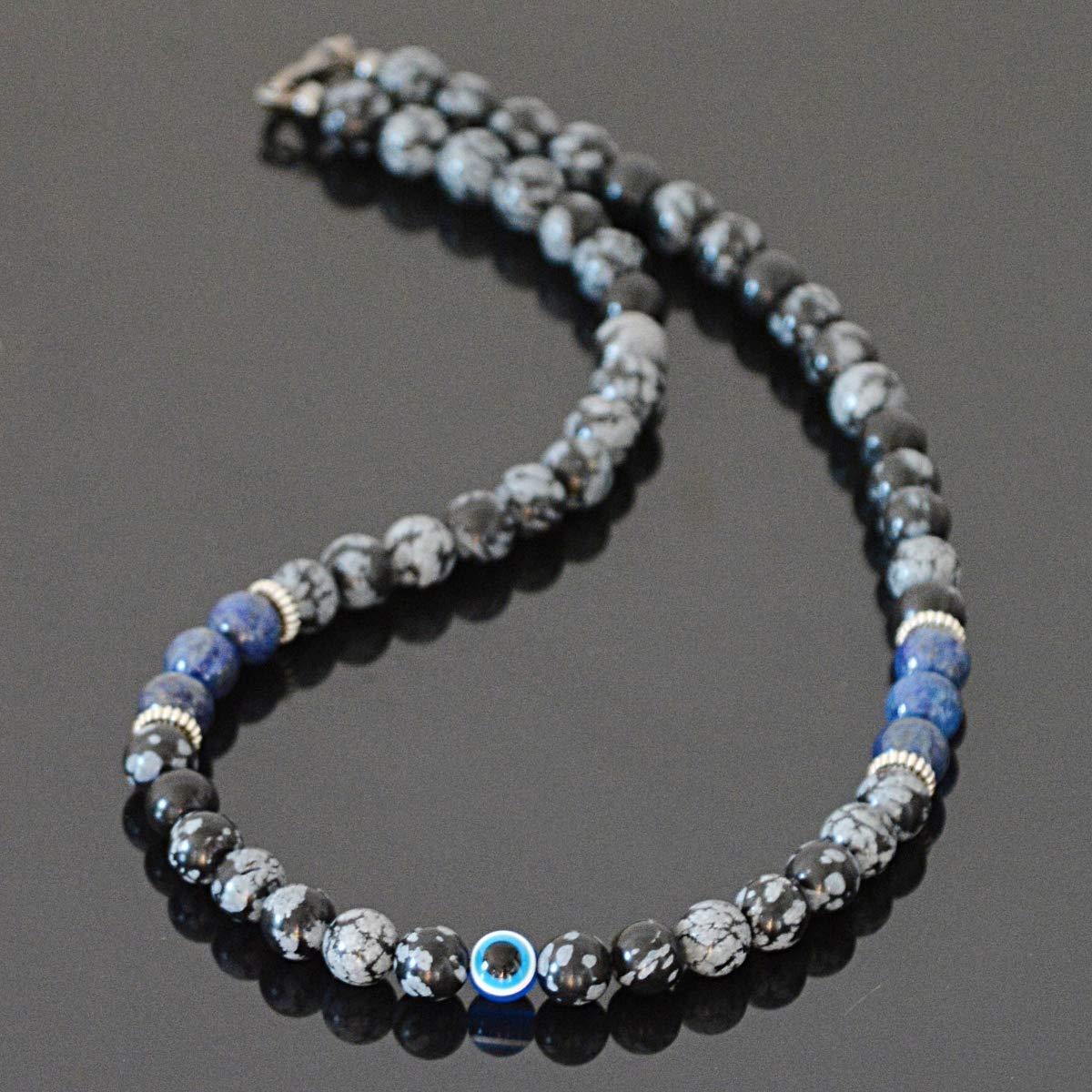 Handmade Lapis Lazuli Gemstone Point Necklace Choker