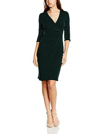 Womens HS0111 Wrap Long Sleeve Dress Hot Squash JF8M2sEmm