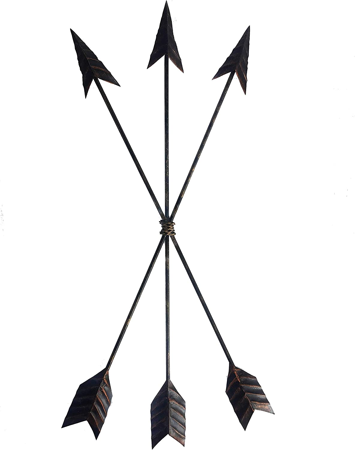 Crafia Cast Iron Metal Native American Arrow Wall Decor and Wall Sculptures | Metal Wall Art and Home Decor | Arrow Wall Decor