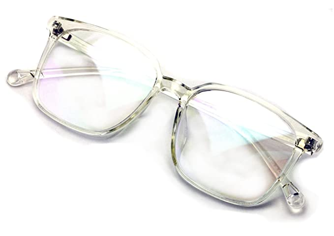 5e8b09e7b2 Lightweight Crystal Fashion TR90 Non-prescription Square Glasses Frame Clear  Lens Eyeglasses Rx able