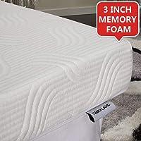 FAIRYLAND 3 Inch Memory Foam Mattress Topper