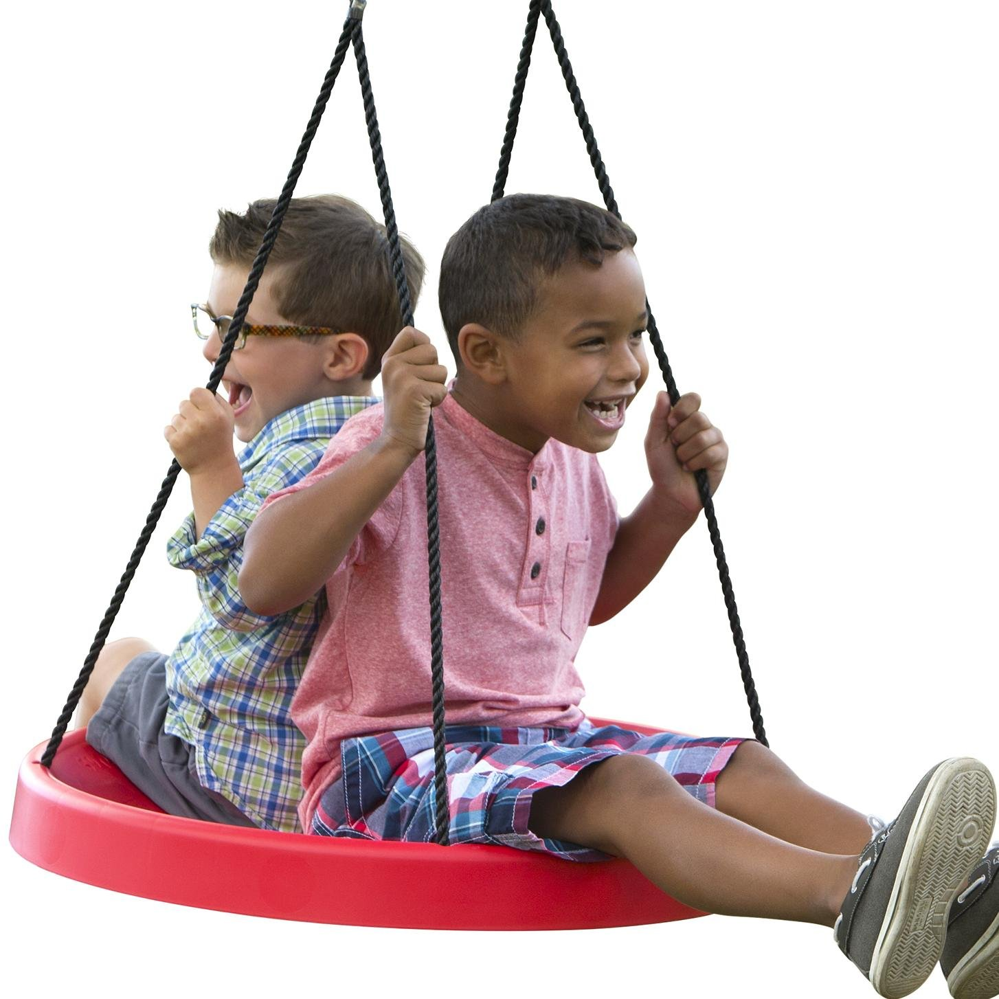 PlayMonster Swing Fun, Easy to Install Set Or Tree, Red, 27'' Super Spinner
