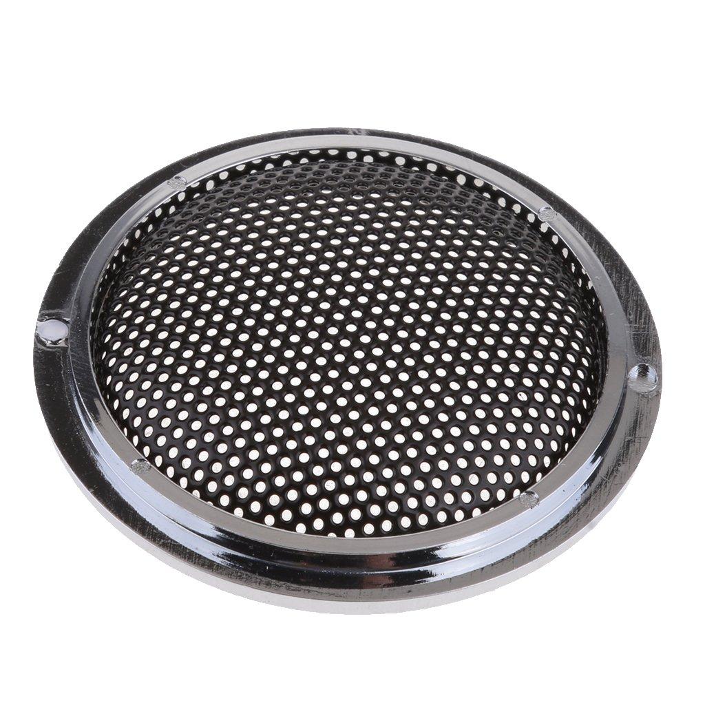 Baoblaze 3X 1 Pouce Grille Noire Coquille De Protection pour Haut-Parleur