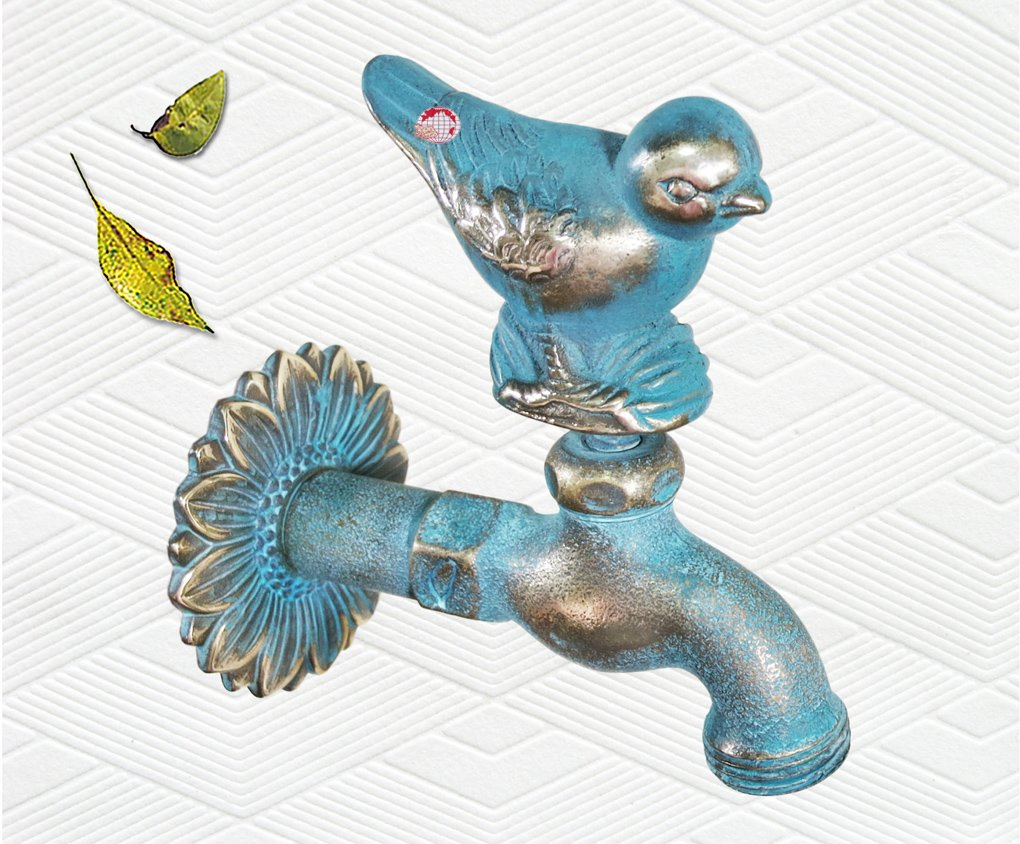 Taiwan Brass Bird Garden Outdoor Faucet