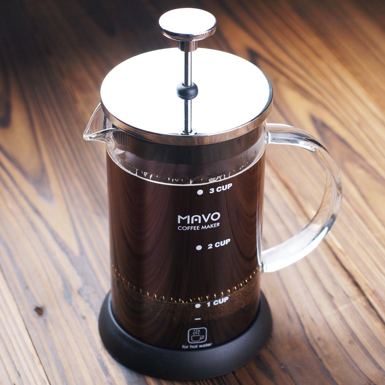 Decen 3 Cup Cafetière French Coffee Press Tea Press Stainless Steel Coffee Pot (600ML) WorldWind