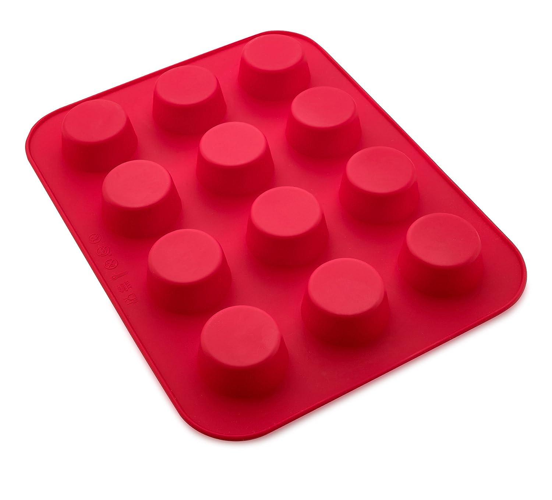 Kitch n wares 12 vasos de silicona Muffin Bandeja, tamaño grande), color azul: Amazon.es: Hogar