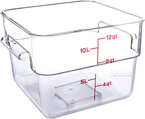 Amazon Com Cambro 12 Quart Camwear Square Food Storage Container Polycarbonate Clear Nsf Food Savers Kitchen Dining